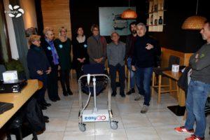 Sollevatore per persone disabili Easy Go, donato all'Associazione Parkinsoniani del Canavese